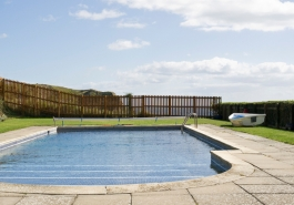 Rudds's B&B swimming pool, Lulworth Cove, Dorset