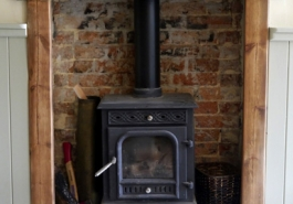 Bishop's Lulworth B&B log burner