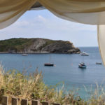 View of Lulworth Cove from Rudds